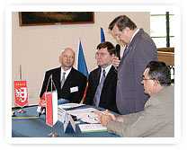 mayor of Raciborz, Jan Osuchowski; vice-chairman of the town's council, Zbigniew Ciszek; primator of Opava, Zbynek Stanjura; Libor Martinek